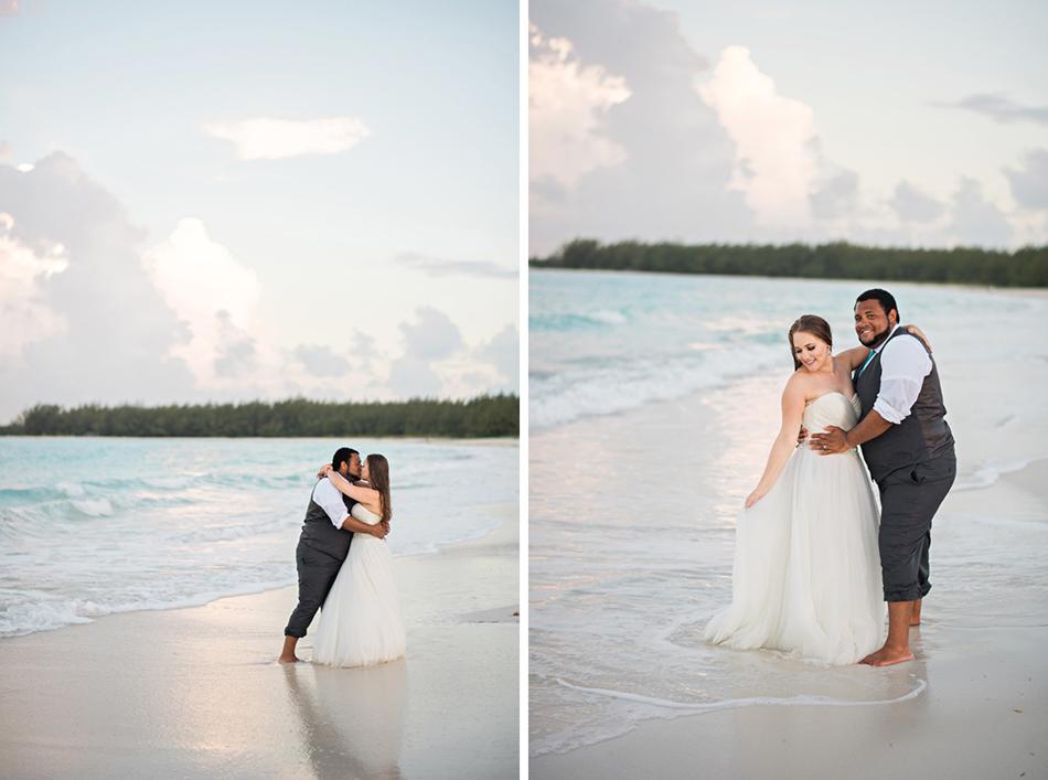 Sunset beach photoshoot bahamas
