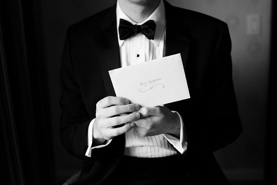 Groom card from bride
