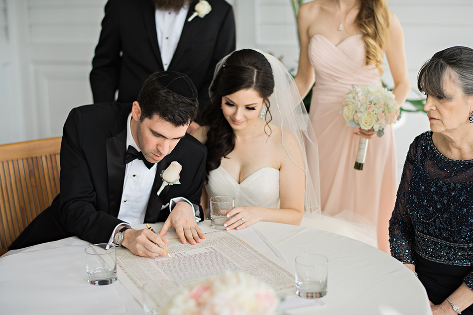 Jewish wedding Ketubah signing at the Grand Floridian in Walt Disney World Orlando, FL