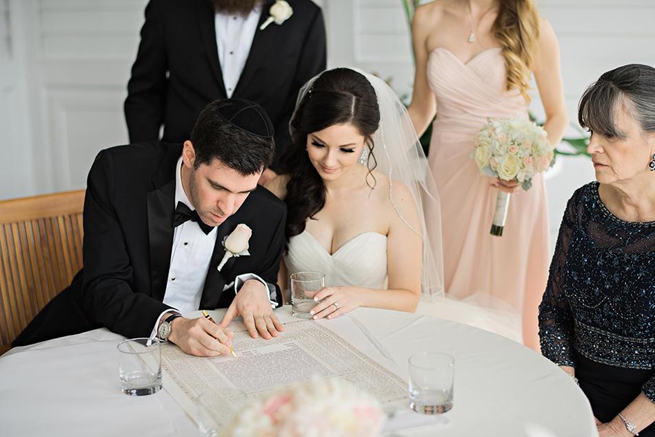 Jewish wedding Ketubah signing at the Grand Floridian in Walt Disney World Orlando, FL