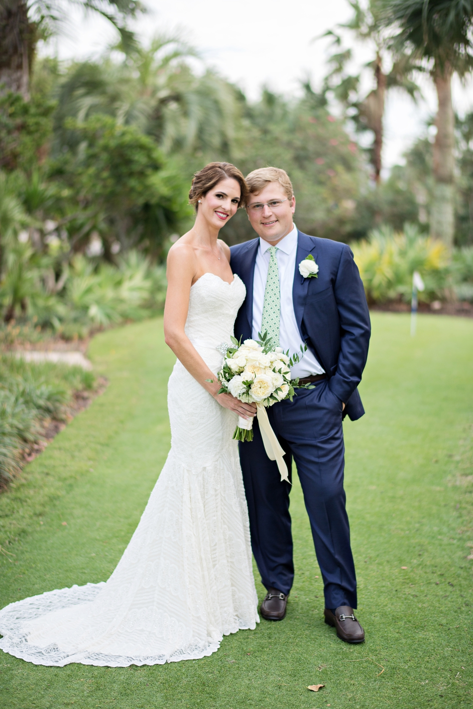 Preppy Navy And Green Hammock Beach Wedding Orlando Photographers Kristen Weaver Photography