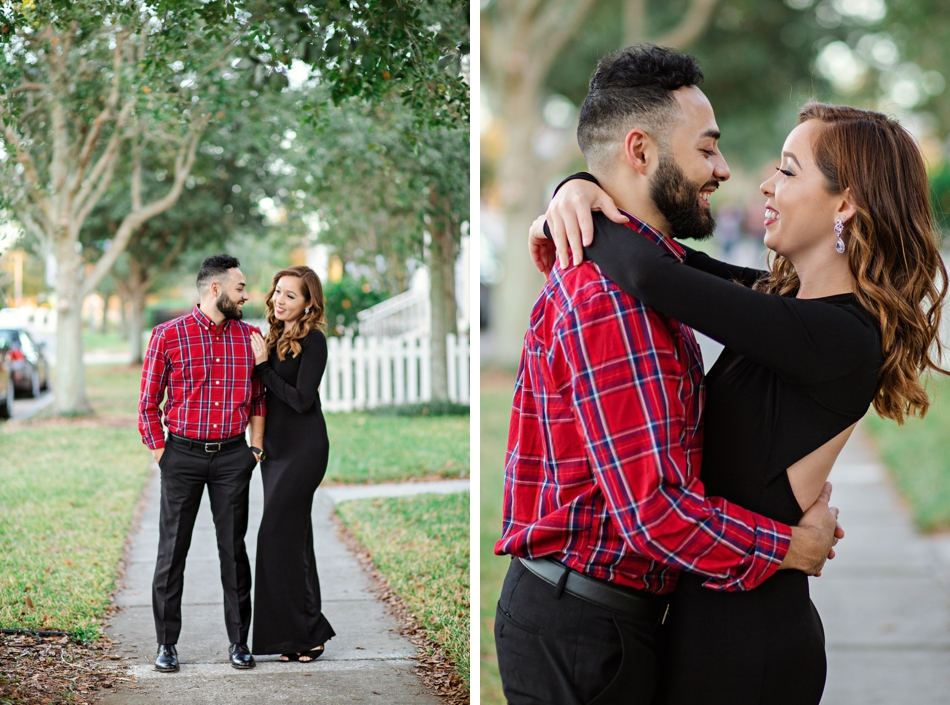 Glam outdoor anniversary session in baldwin park orlando wedding
