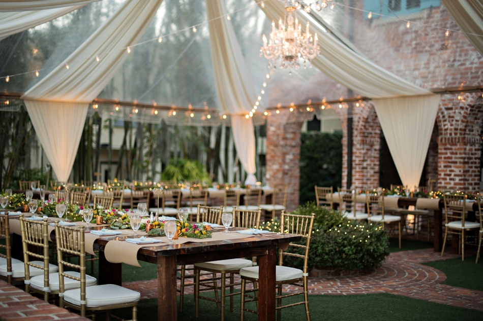 Tented outdoor reception