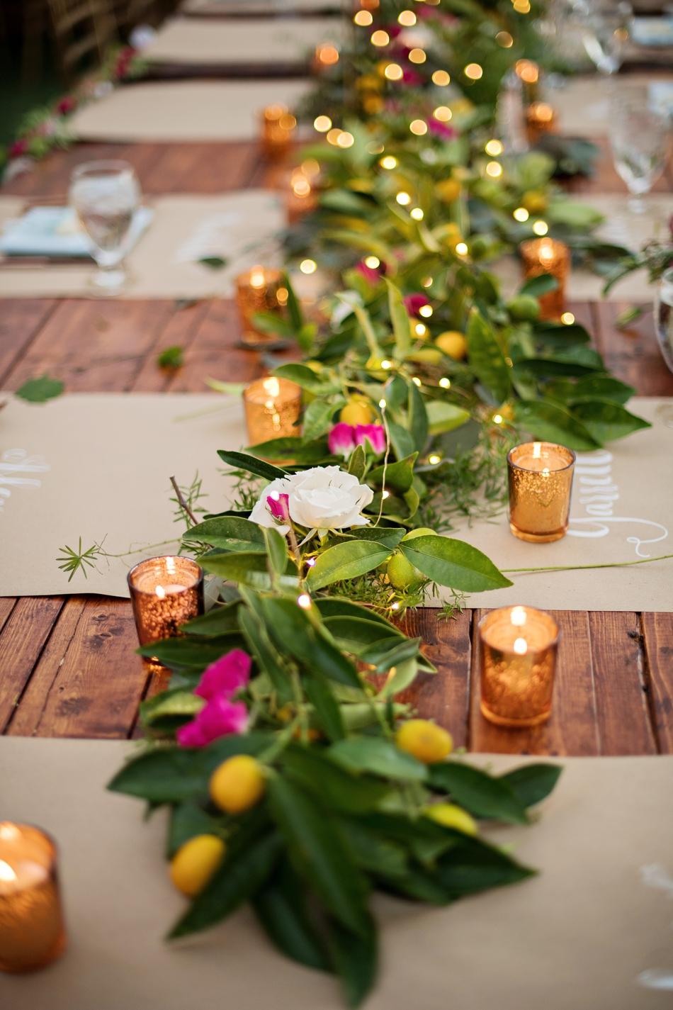 Unique floral table runner