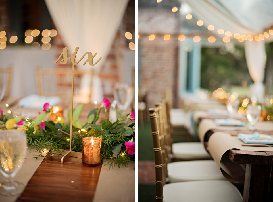 beautiful fall wedding reception