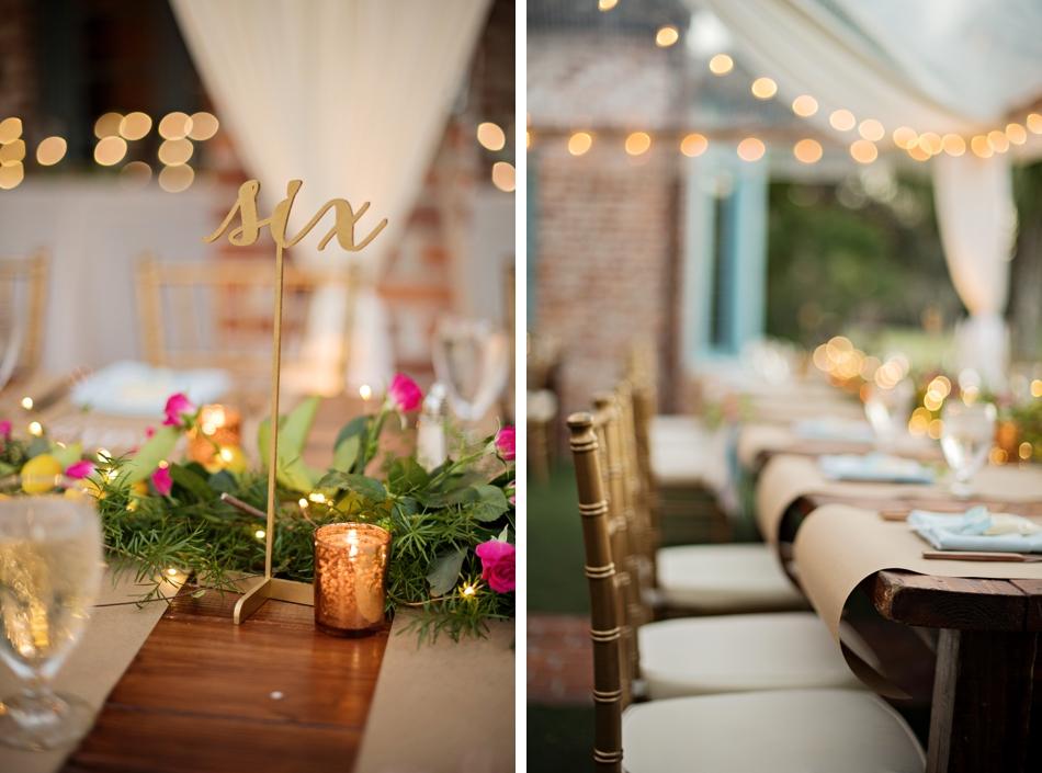 beautiful fall wedding reception