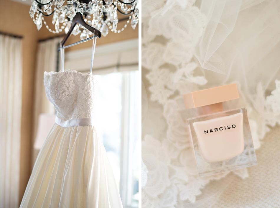 Oscar de la Renta wedding gown