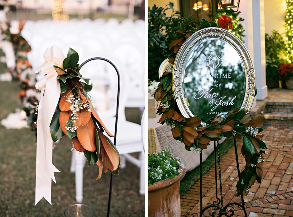 magnolia wedding day details
