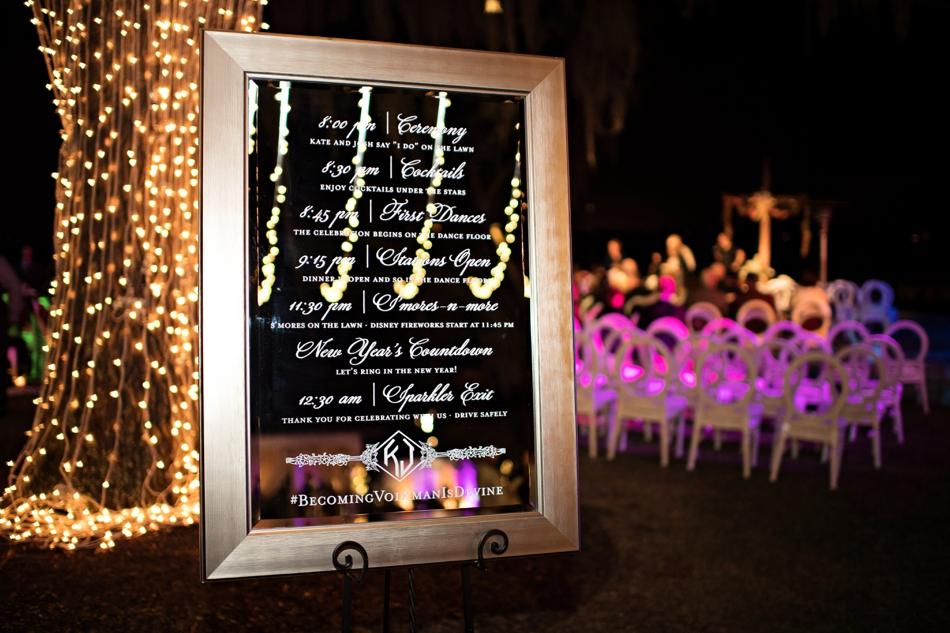 Mirror wedding program