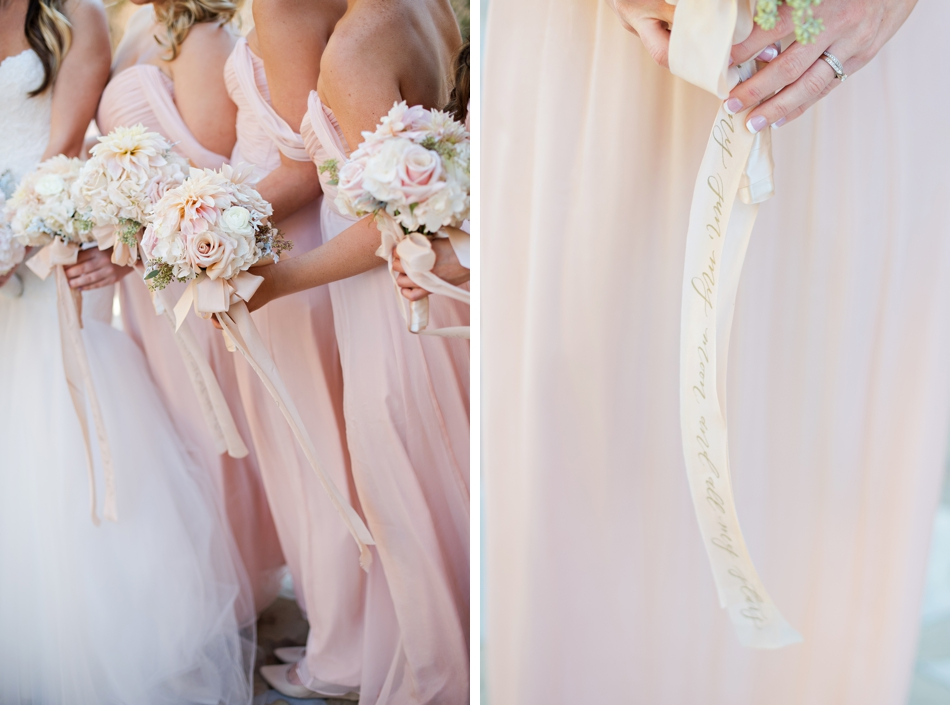 hand calligraphy silk ribbon for bouquet