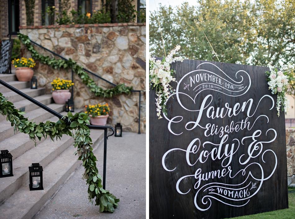 reception decor - outdoor reception