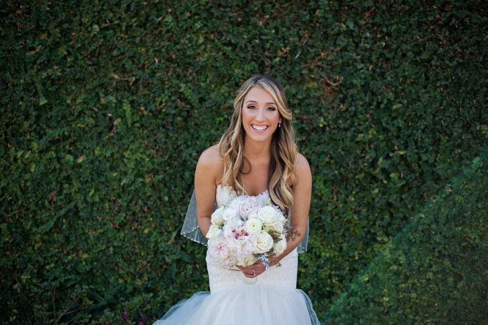 fun bride portrait