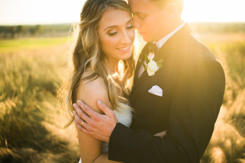 bride and groom sunset photo at bella collina