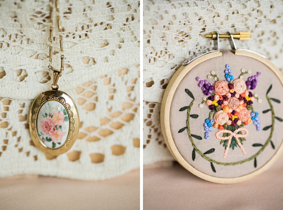 hand-made wedding details