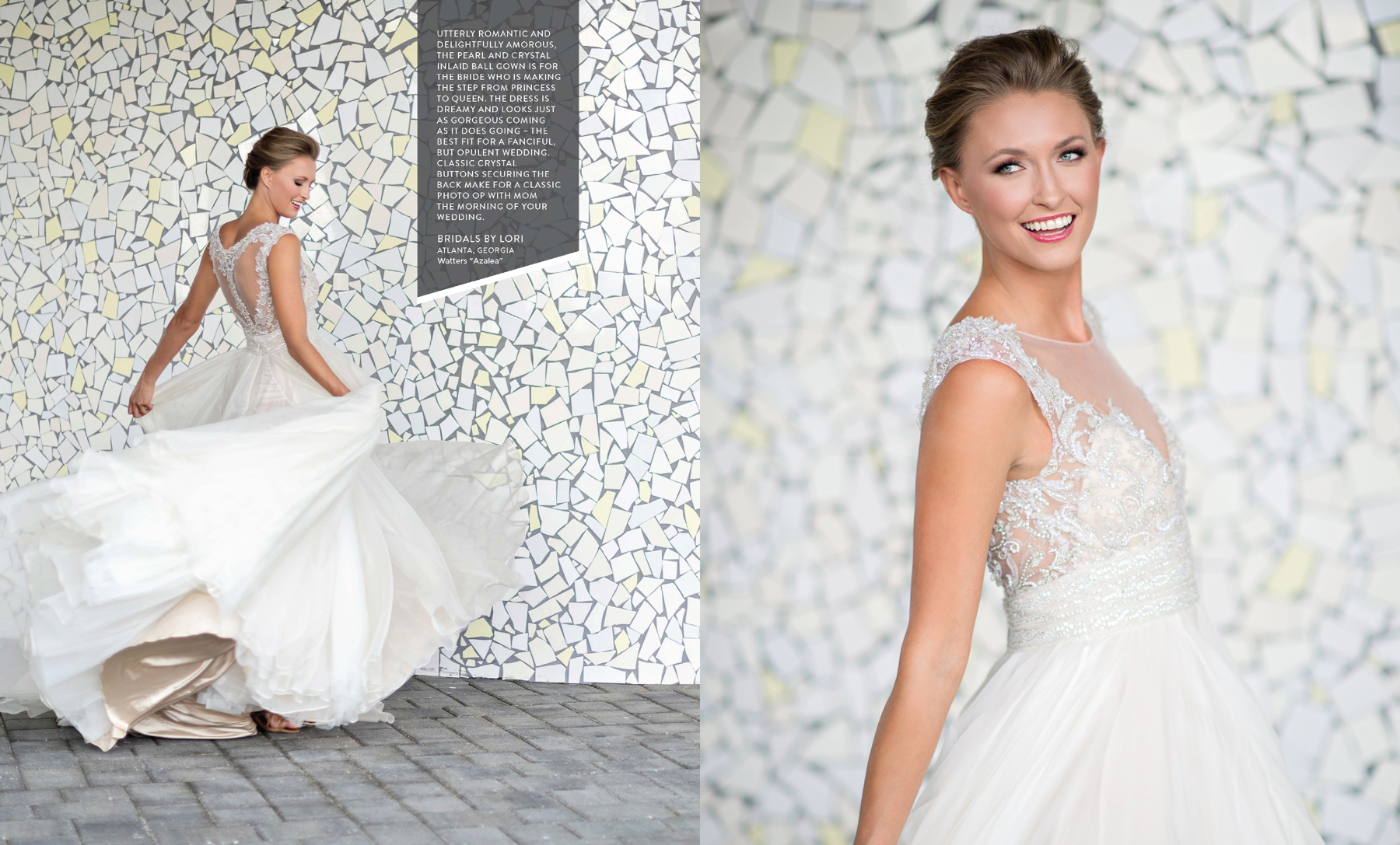 Watters Azalea wedding gown