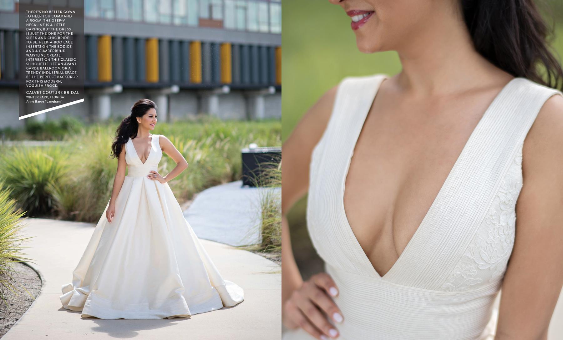 Anne Barge Langham wedding gown