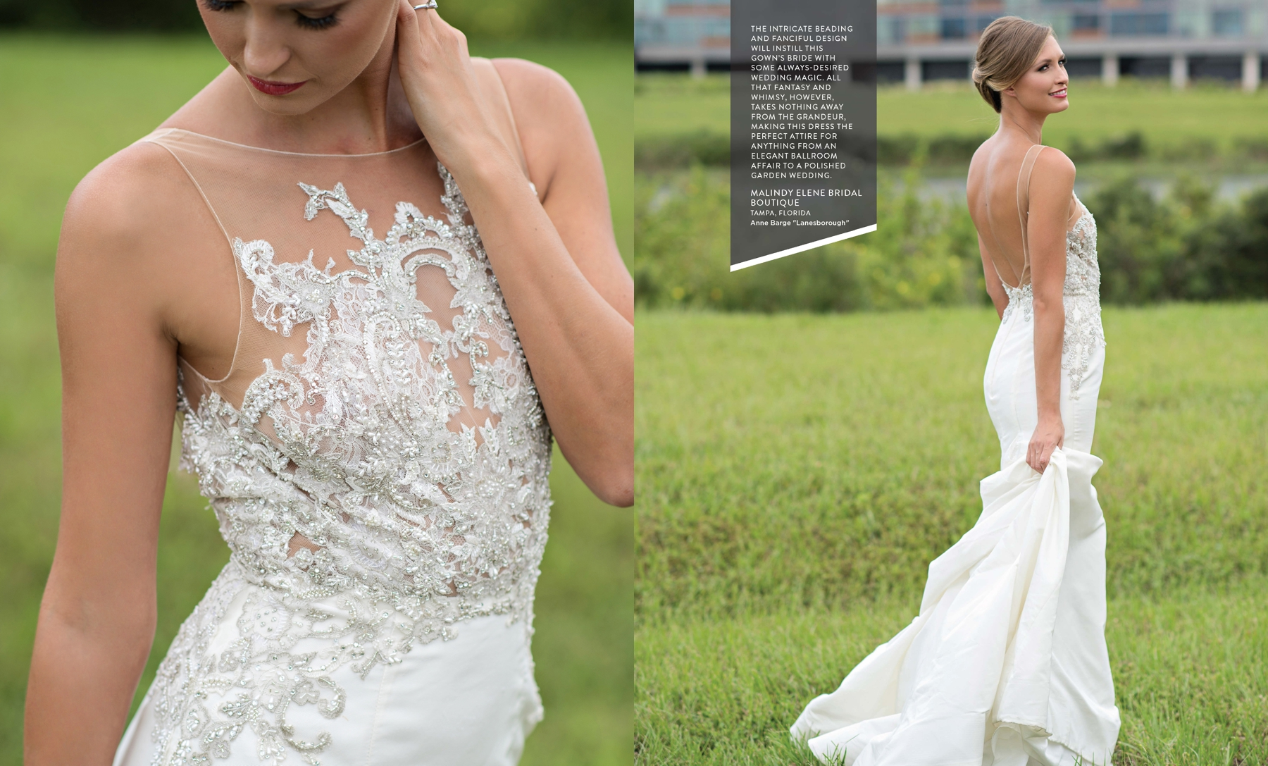 Anne Barge Laneborough wedding gown