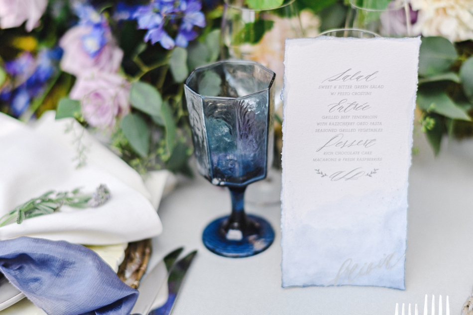 watercolor menu wedding reecption