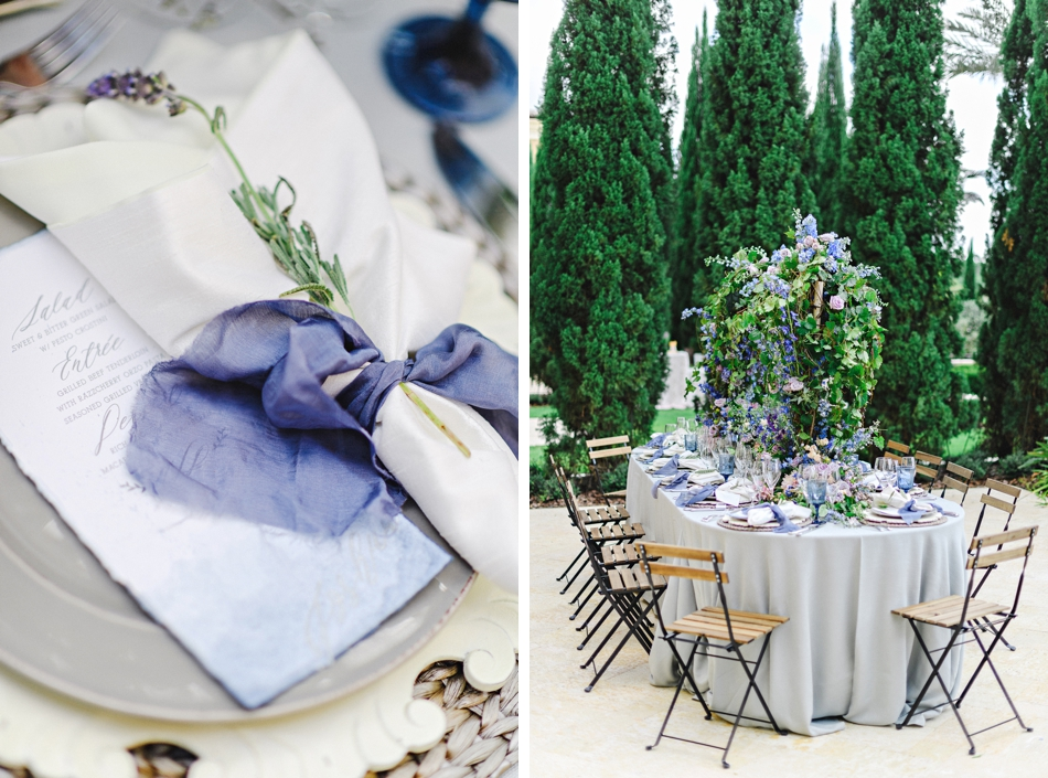 lavender table reception