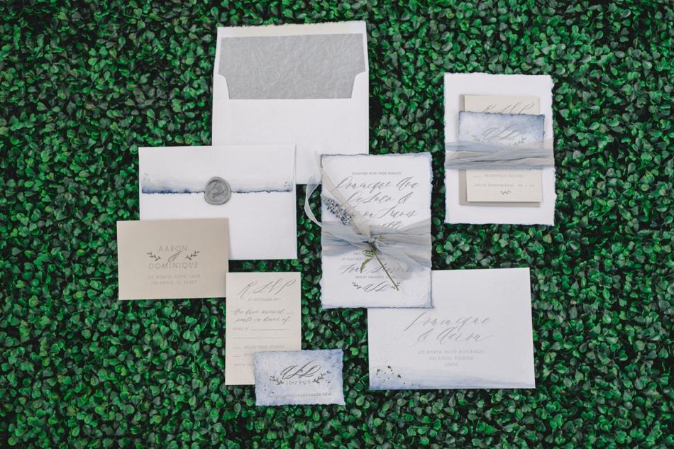 watercolor invitation suite by eleven note
