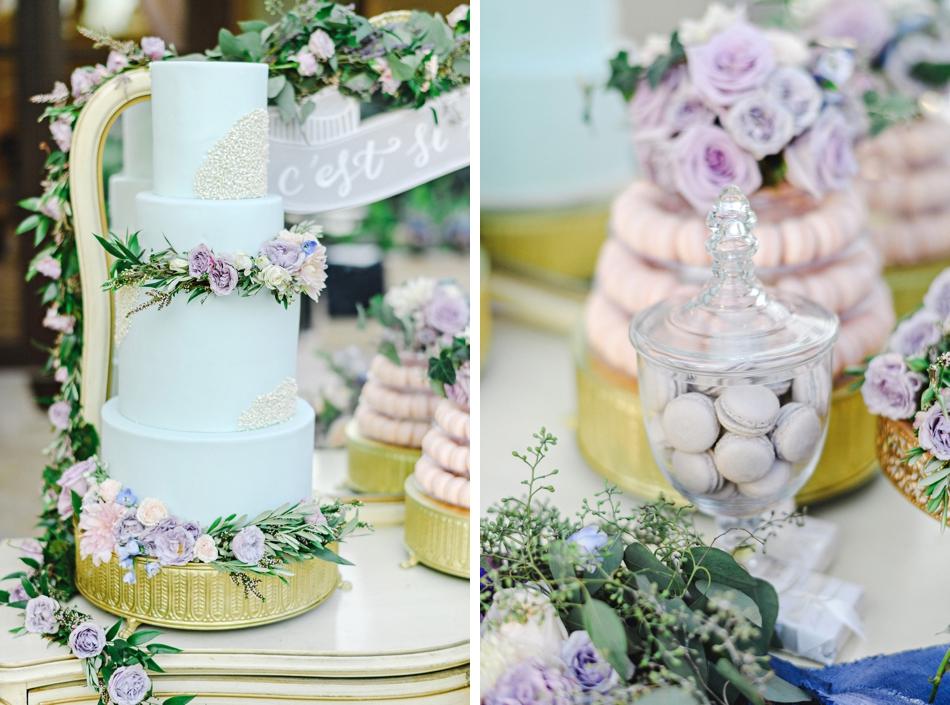 cake table and dessert display
