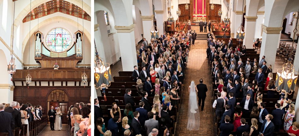 wedding ceremony at knowles chapel, rollins college, winter park