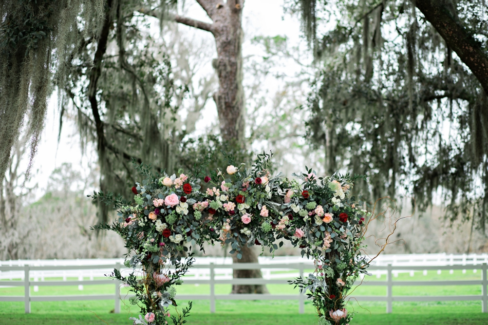 stunning ceremony altar flowers