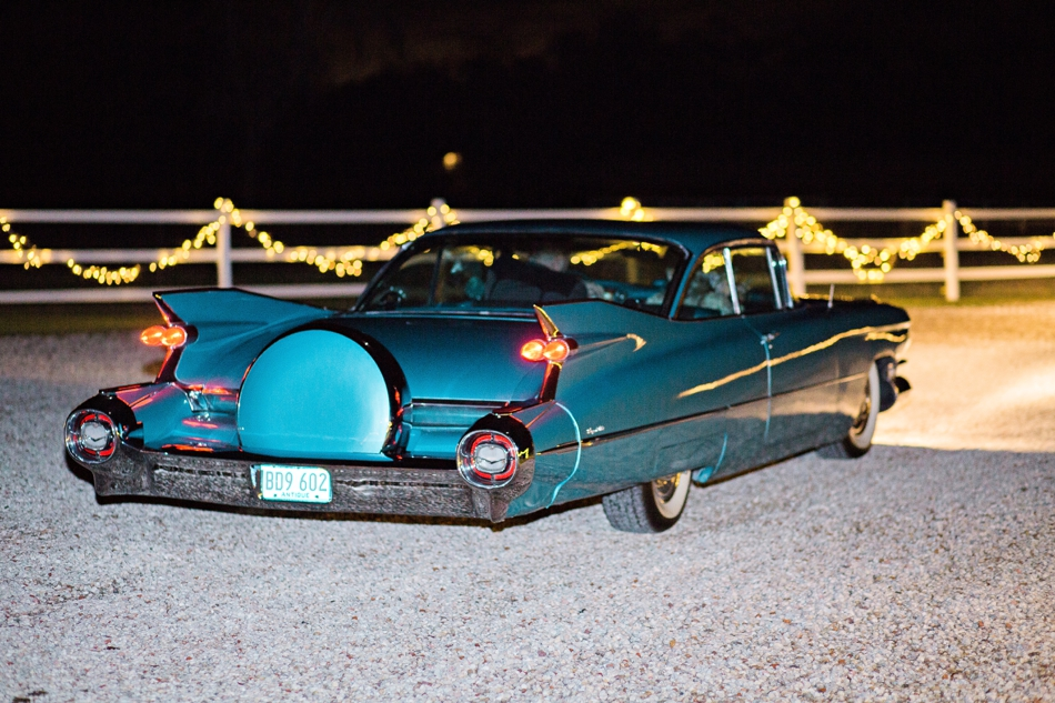 vintage car, wedding reception getaway car