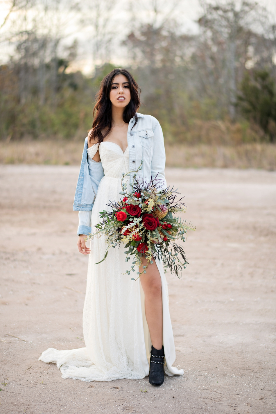 Fashion bridal session with Sarah Seven gown