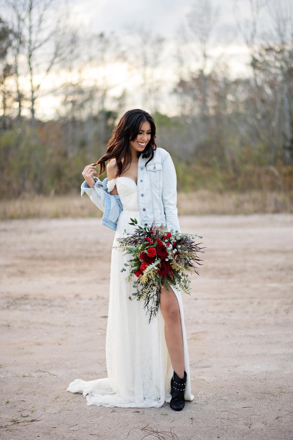 Black wedding shoes, winter bridal editorial