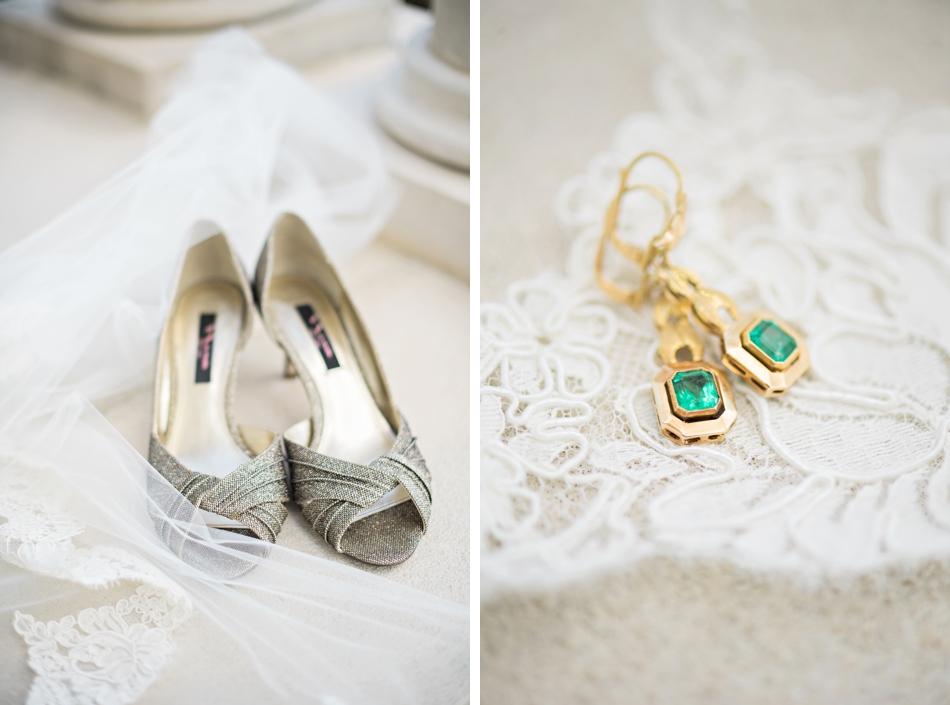family heirloom earrings for wedding