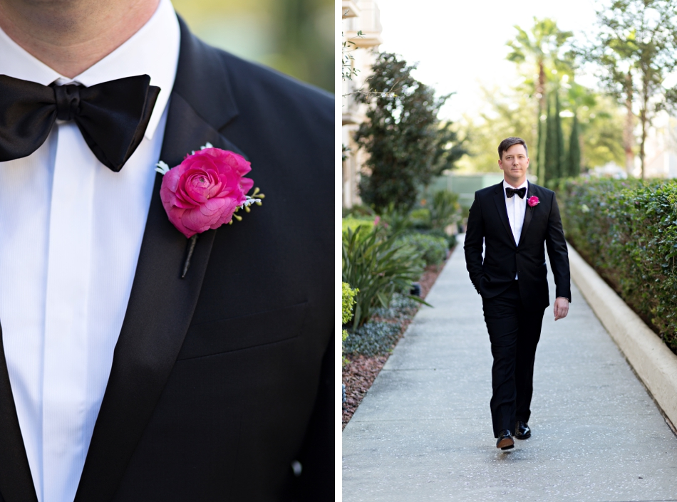 pink groom boutonniere