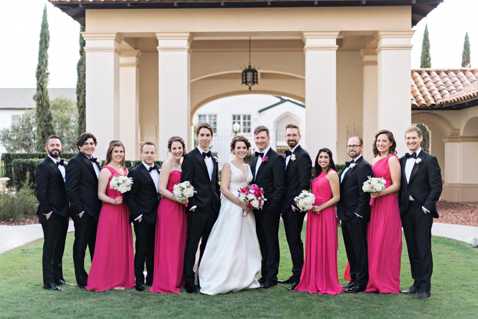 spring themed pink wedding