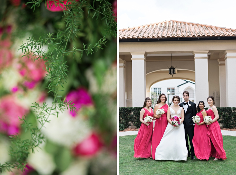 pink wedding and man of honor