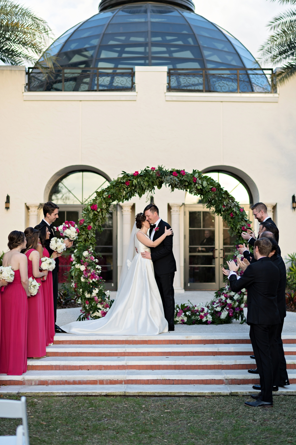 beautiful ceremony floral altar