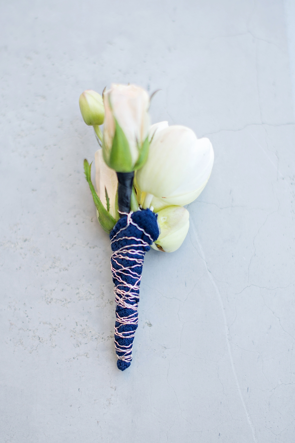 something blue boutonniere