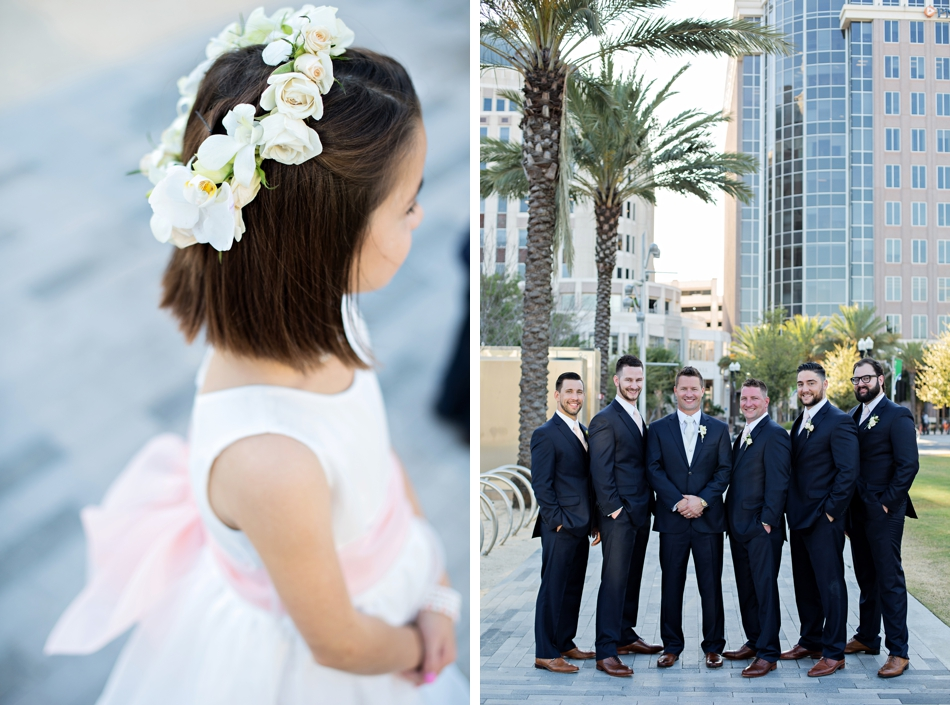 flower girl and groomsmen