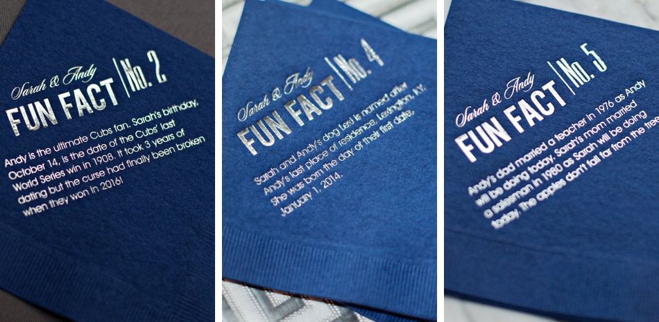 fun wedding cocktail napkins