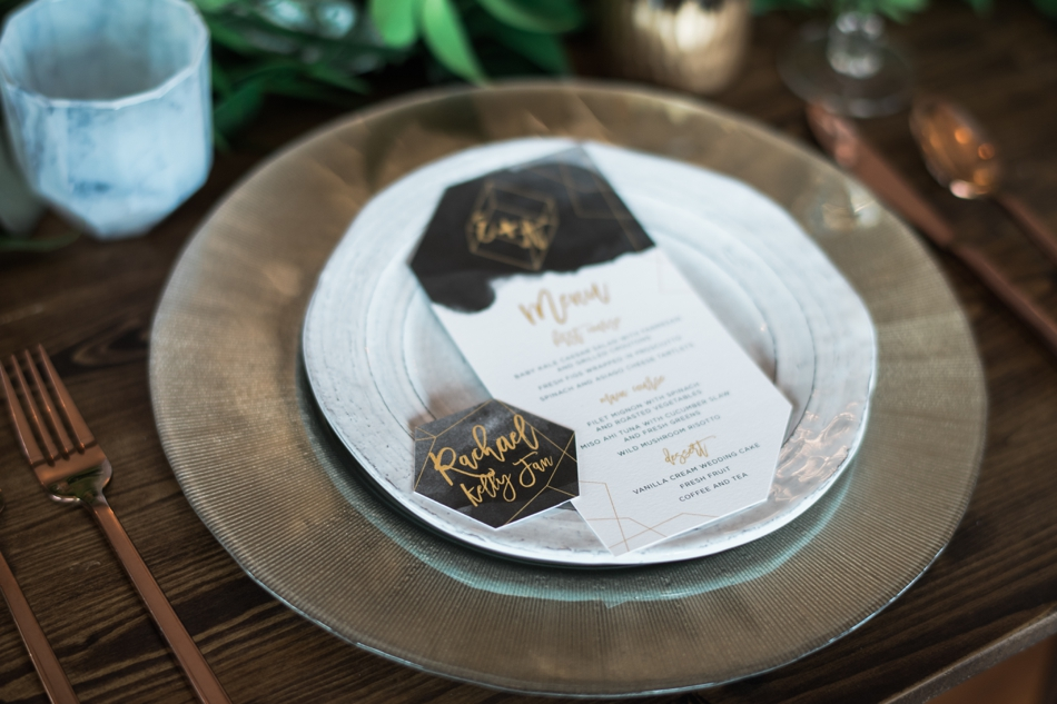 Geometric place cards