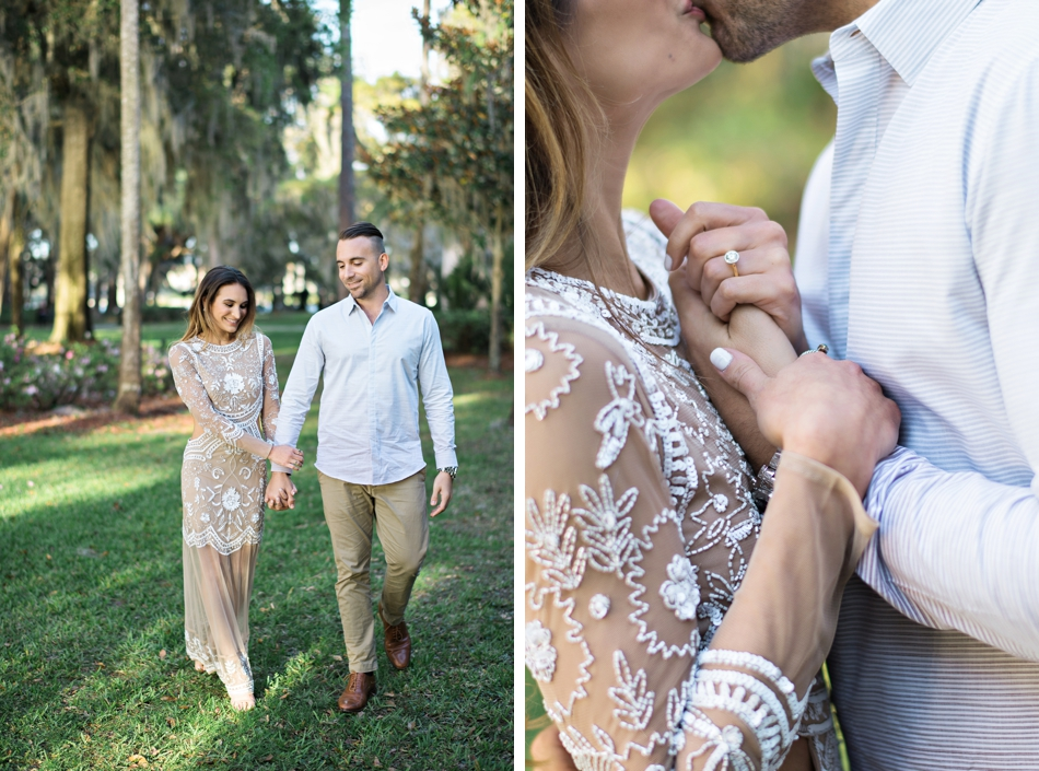 glamorous engagement session