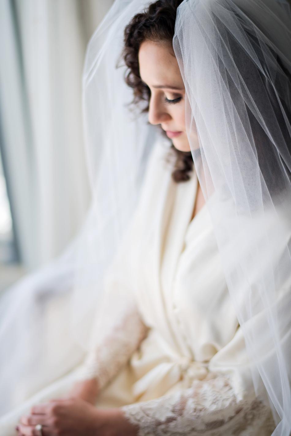 wedding day robe getting ready photo