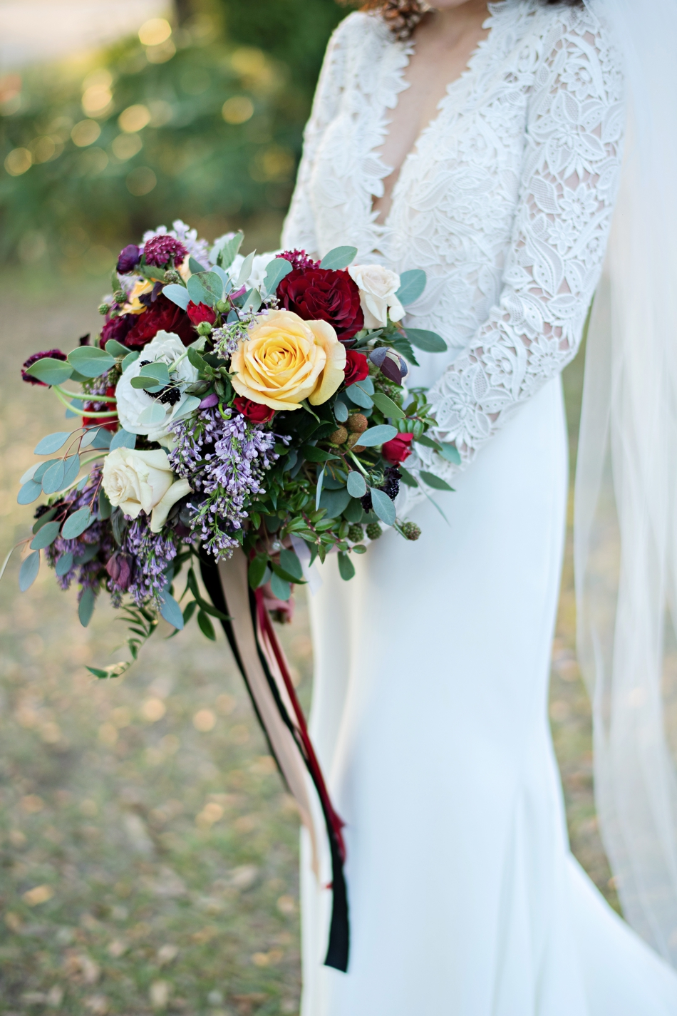 lush organic wedding bouquet