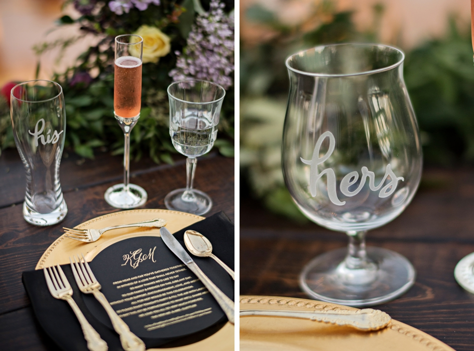his and hers wedding glasses
