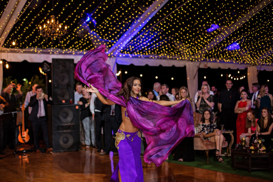 Lebanese wedding band, belly dancer at reception