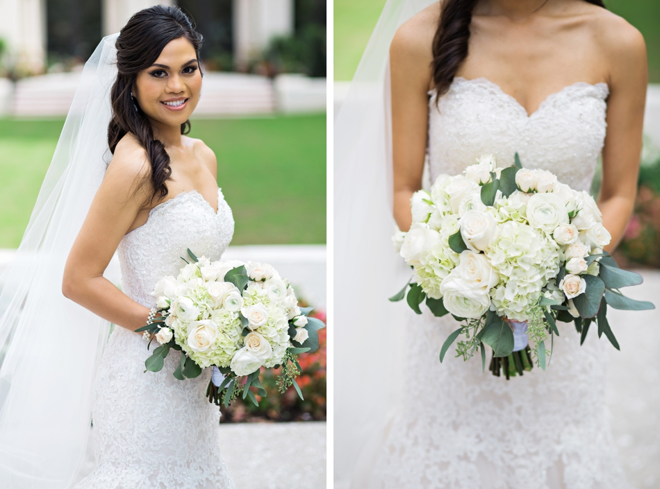 bride in david tutera wedding gown