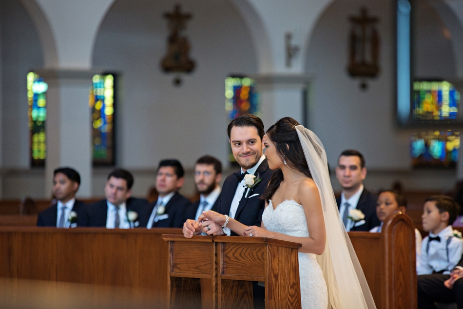 catholic wedding ceremony at Annunciation Catholic Church
