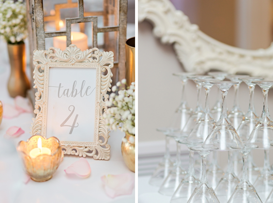 white room wedding reception