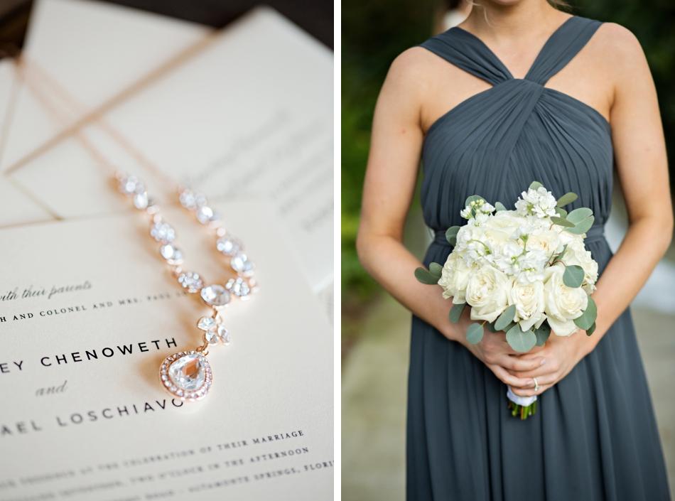 shine wedding invitations, dusty blue bridesmaid gown