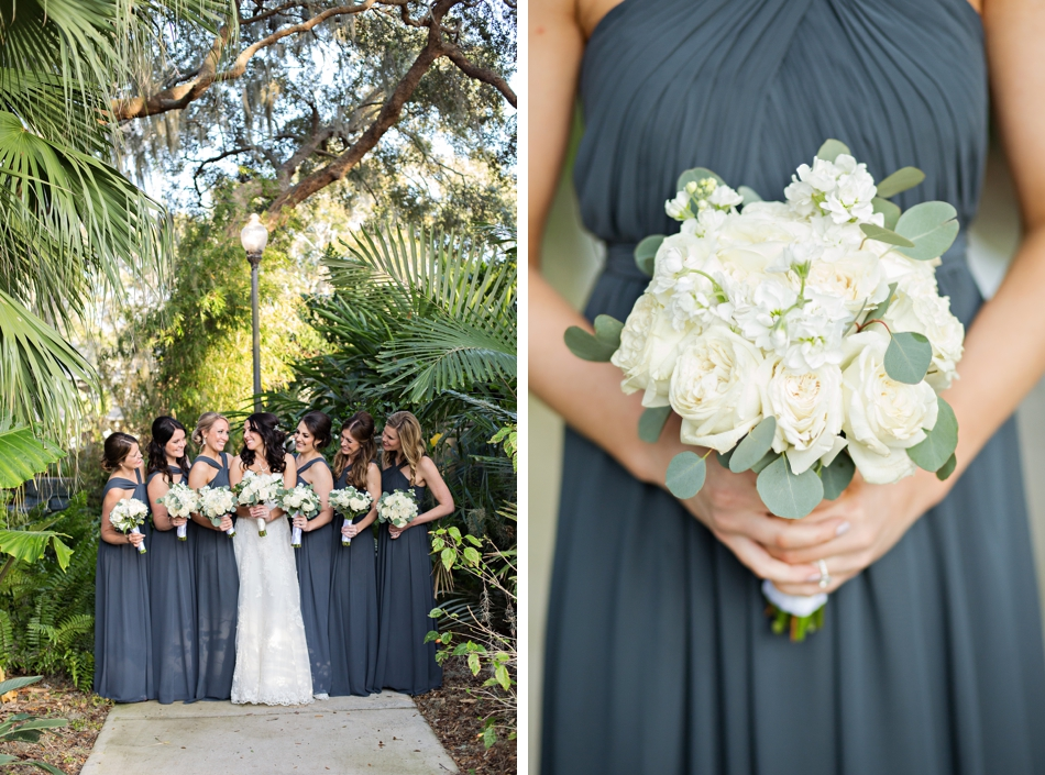 blue bridesmaids gowns