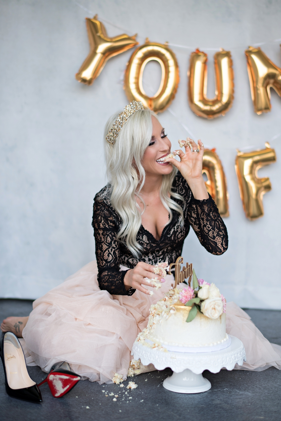 30th Birthday Cake Smash Orlando Wedding Photographer